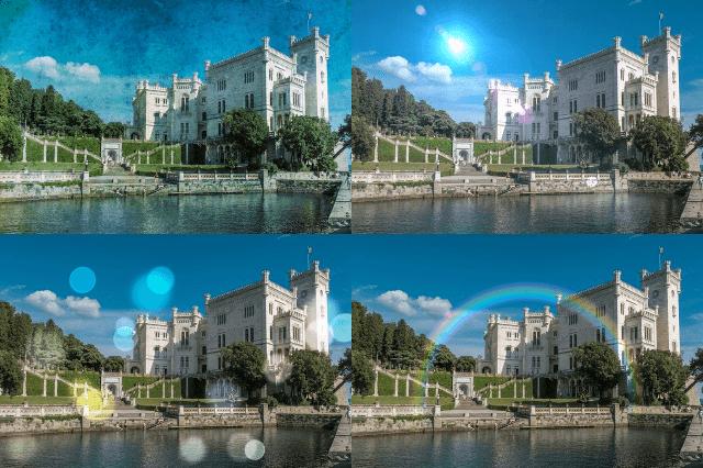 無料の画像編集ソフトPhotoscapeX エフェクトを加えた画像