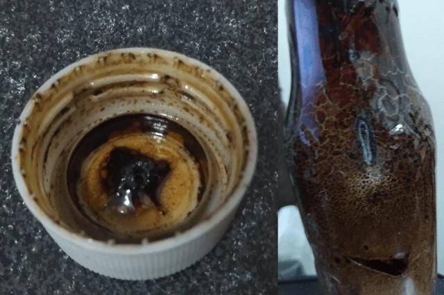Amazonで注文したHEM社の六角香 お香立てをペットボトルで代用品 ヤニがものすごくて害がありそう