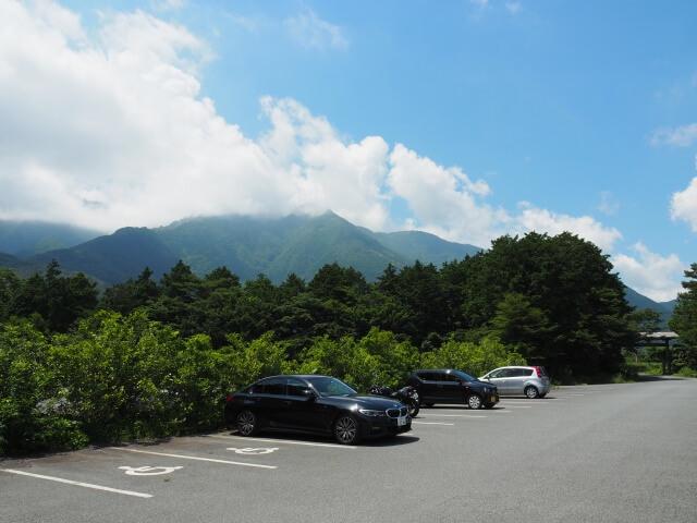 富士花鳥園 駐車場 景色