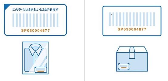 Amazon 返品手続きの方法 SPから始まるバーコード